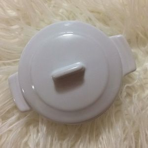 Other - Round Mini Cocotte White with Lid
